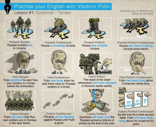Angličina s Putinem